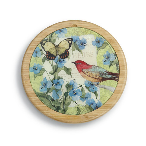 Demdaco Bird Cutting Board Lazy Susan