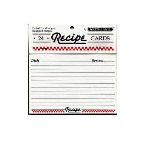 HIC Weatherbee Recipe Cards, 4 x 6, Set of 24
