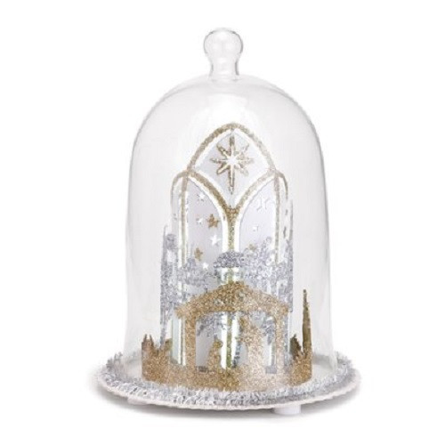 Demdaco Lit Nativity Scene Cloche Figure, Small