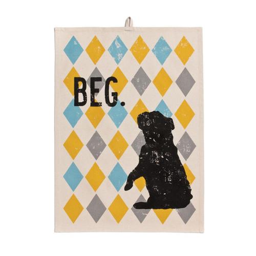 """Demdaco """"Beg"""" Tea Towel"""
