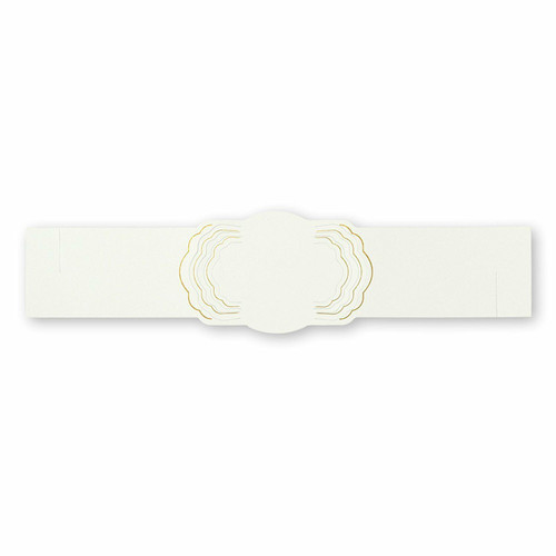 C.R. Gibson Paper Napkin Rings, Gold, Set of 12