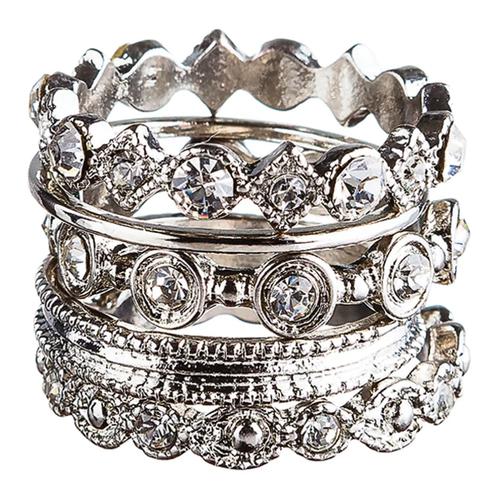 Rain Silver 5-Piece Ring