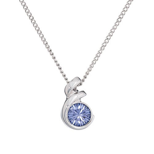 Annaleece Essentials Birthstone Necklace, December, Tanzanite