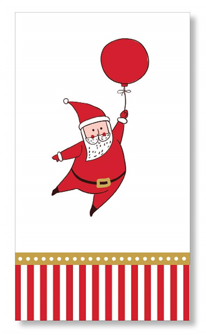 C.R. Gibson Paper Guest Towel Napkins, Silly Santa