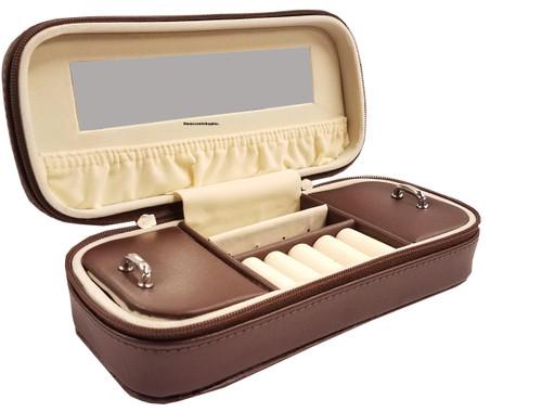 Annaleece Jewelry Box, Cross Country, Brown