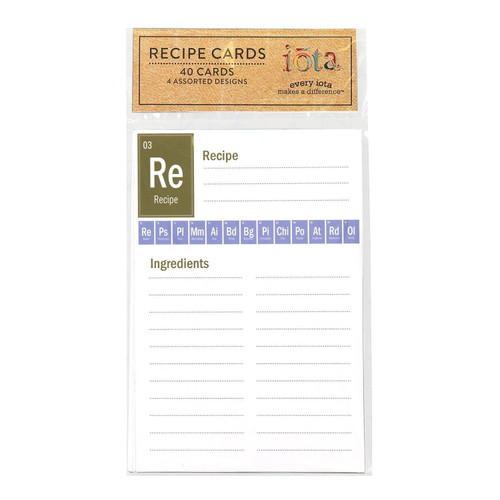 "C.R. Gibson 4"" x 6"" Recipe Cards, Periodic Table of Yum"