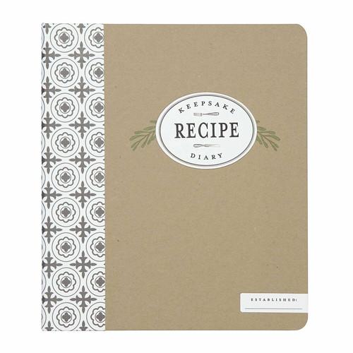 C.R. Gibson Keepsake Recipe Diary, Farmhouse