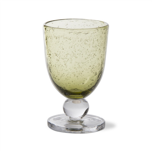 TAG Bubble Glass Foliage Goblet (G09033)
