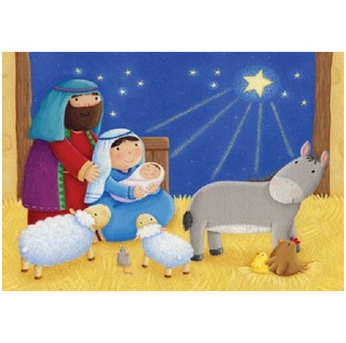Vermont Christmas Company Advent Calendar, Baby in a Manger (BB823)