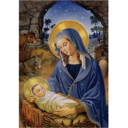 Vermont Christmas Company Advent Calendar, Mary With Child