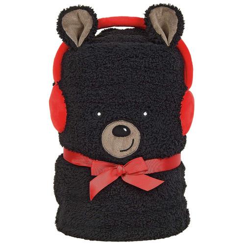Department 56 Snowpinions Black Bear Snowthrow Blanket