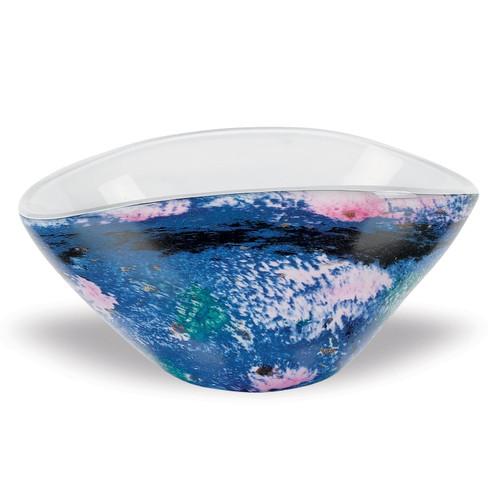 Badash Crystal Monet 8.5 Inch by 5.5 Inch Oval Art Glass Bowl (GW589)