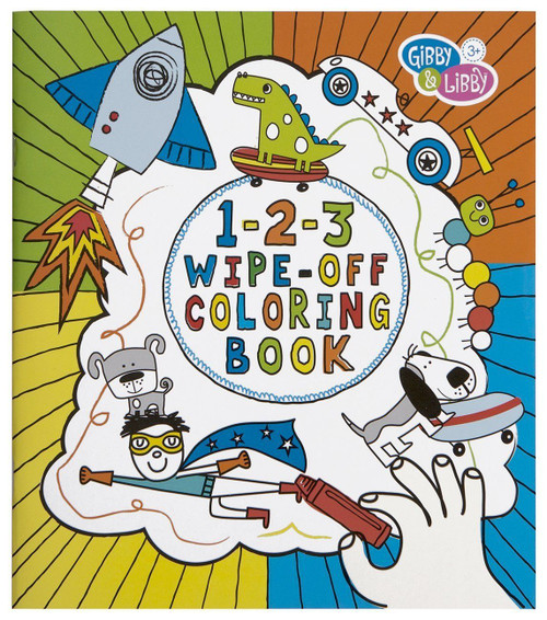 C.R. Gibson 1-2-3 Wipe-Off Coloring Book, Boys