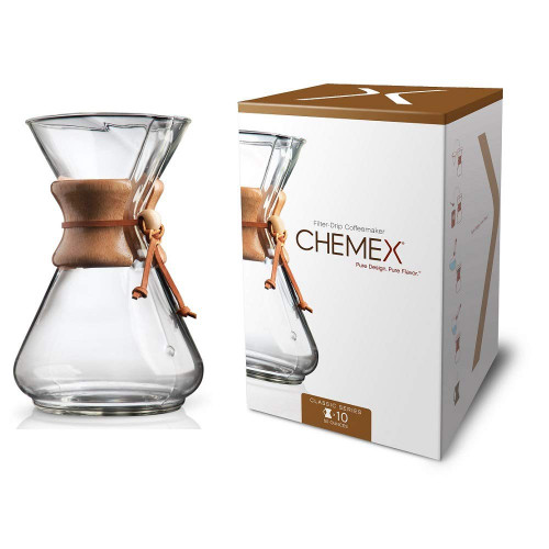 Chemex Classic Series Coffeemaker, 10 Cup (CM-10A)