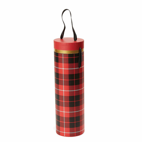 C.R. Gibson Wine Tube, Plaid