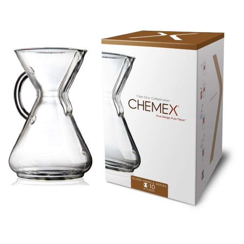 Chemex Handle Series Coffeemaker, 10 Cup (CM-10GH)