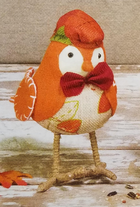 Hanna's Handiworks Harvest Bird, Orange & Plaid Hat
