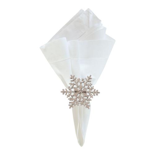 C&F Enterprises Silver Snowflake Napkin Ring