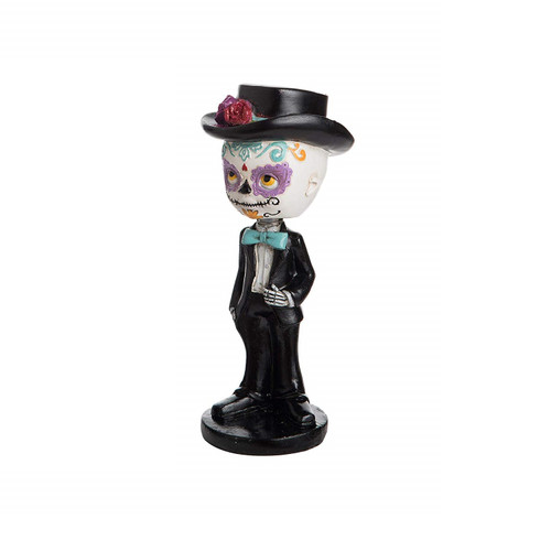 C&F Enterprises Day of The Dead Skull Bobblehead, Man
