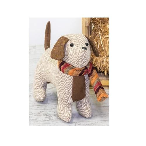 Hanna's Handiworks Fall Playful Dog, Herringbone