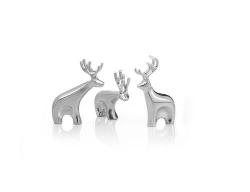 Nambe Mini Blitzen Reindeer Set