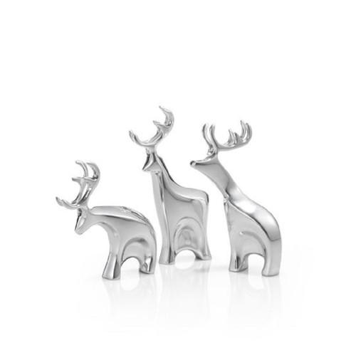 Nambe Mini Dasher Reindeer Set