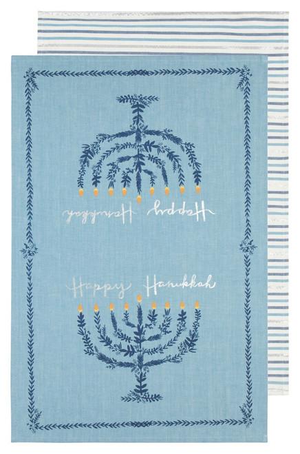 Now Designs Happy Hanukkah Dishtowels, Set of 2