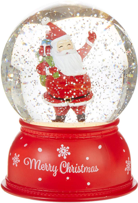 "Raz Imports 6"" Lighted Water Snowglobe, Santa"