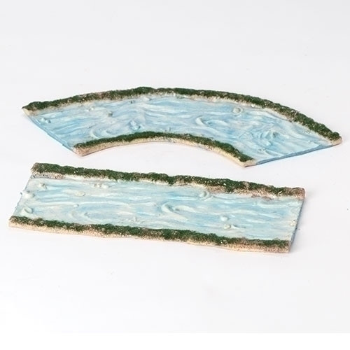 """Roman Fontanini 5"""" Collection Curved and Straight Stream, Set of 2"""