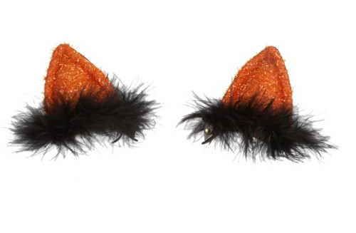 Ganz Light Up Clip On Cat Ears, Orange
