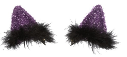 Ganz Light Up Clip On Cat Ears, Purple