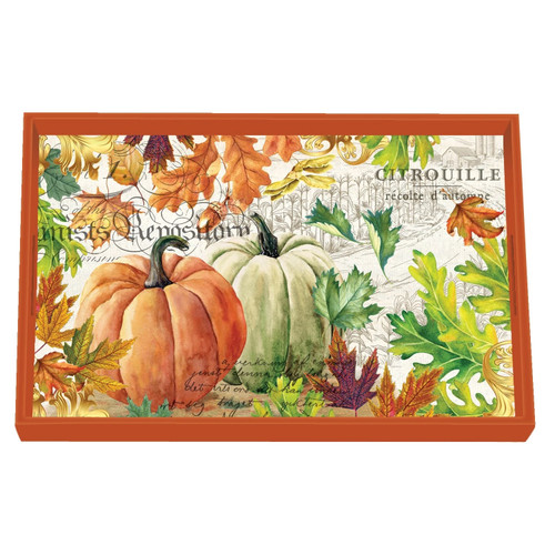 Michel Design Works Decoupage Wooden Vanity Tray, Fall Harvest