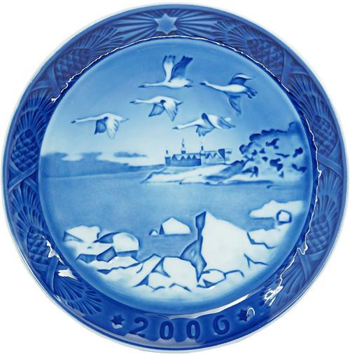 Royal Copenhagen 2006 Porcelain Christmas Plate - Kronborg Castle