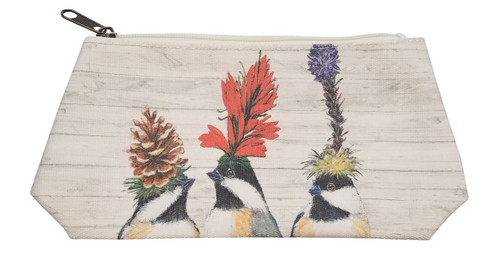Paperproducts Design Canvas Cosmetic Bag, Medium, The Chickadee Sisters