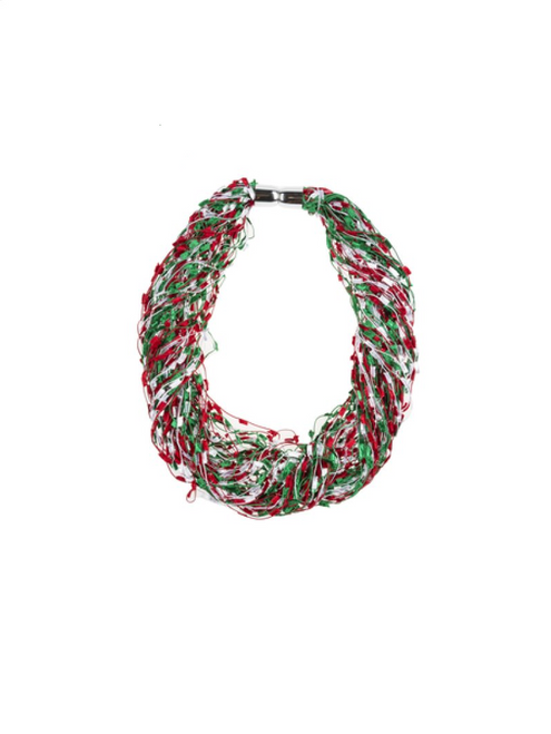 Ganz Holiday Confetti Scarf, Red/Green/White