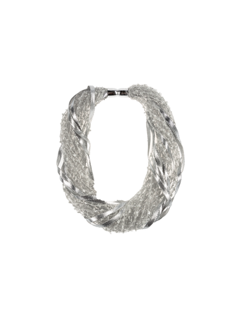 Ganz Tinsel Magnetic Scarf, Silver/Gray