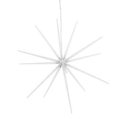 Ganz Light Up Starburst Ornament - White