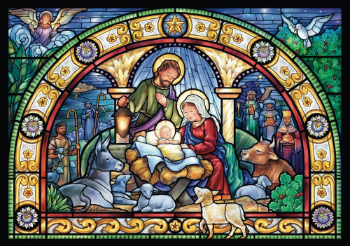 Vermont Christmas Company Advent Calendar, Stained Glass Holy Night