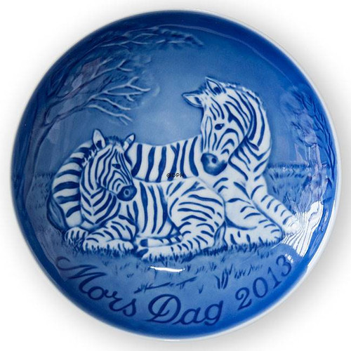 Bing & Grondahl 2013 Zebra Mother's Day Plate