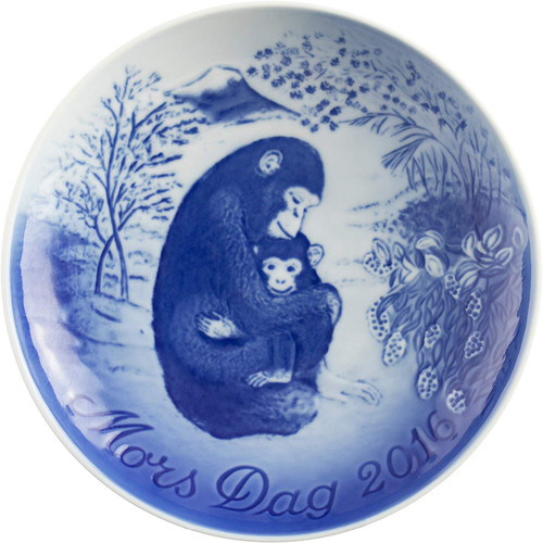 Bing & Grondahl 2016 Mother's Day Plate, Ape & Baby