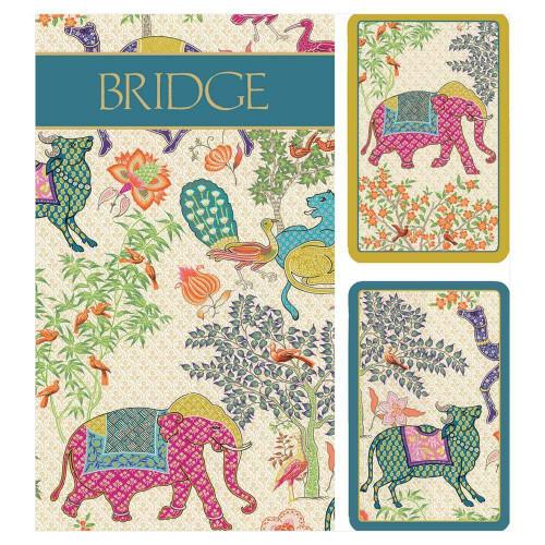 Caspari Large Type Bridge Gift Set, Le Jardin De Mysore (GS140J)