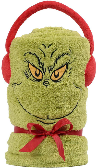 Department 56 Snowpinions Grinch Snowthrow Blanket