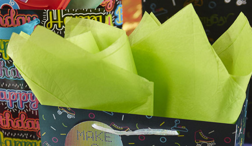 The Gift Wrap Company Solid Gift Tissue, Lime Green