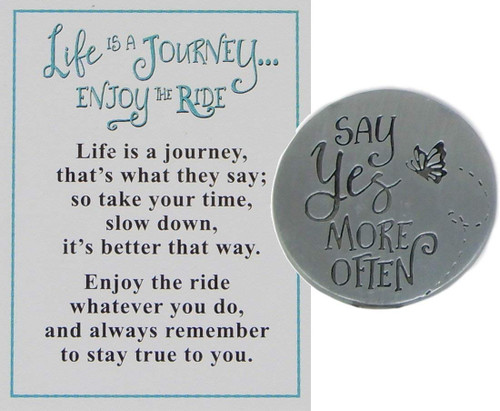 "Ganz ""Life is a Journey, Enjoy the Ride"" Charm, Adventure Awaits"
