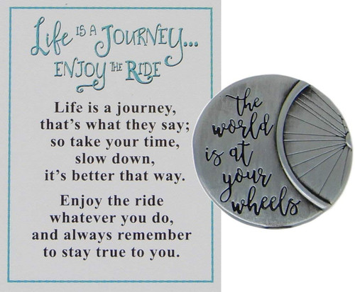"Ganz ""Life is a Journey, Enjoy the Ride"" Charm, Keep on Rollin'"