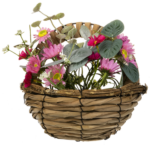 Ganz Spring Flowers In A Basket, Pink