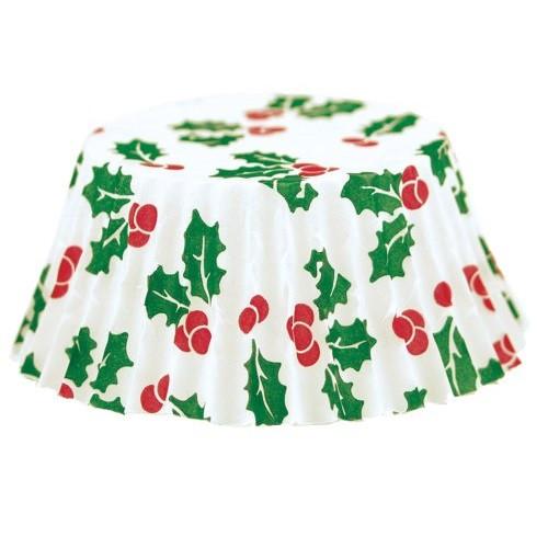 Fox Run Christmas Bake Cups, Petit Four, 100 Cups (4972)