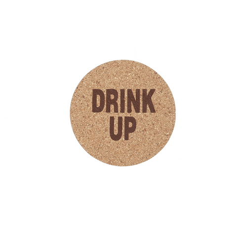 "Ganz ""Drink Up"" Cork Coaster"