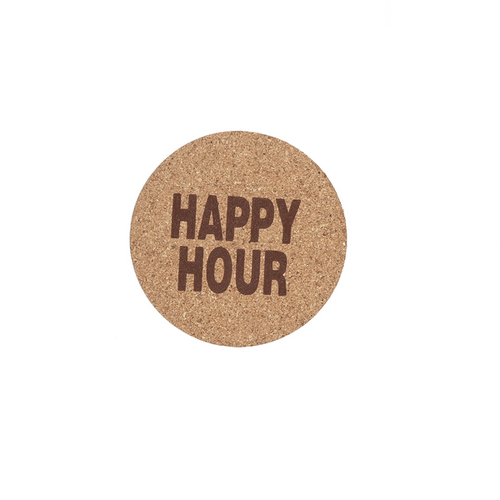 "Ganz ""Happy Hour"" Cork Coaster"