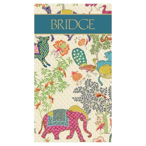 Caspari Bridge Score Pad, Le Jardin De Mysore (SP140)
